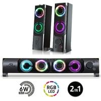 Haut parleurs 2.0 ADVANCE SoundPhonic RGB 6W RMS