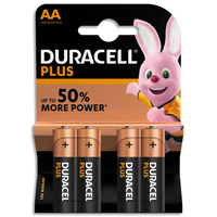 Blister de 4 piles DURACELL Alcalines LR6 AA 1,5V