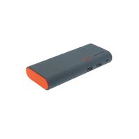 Powerbank APM 12500 mAh Double USB Gris Orange