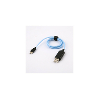 Câble APM USB vers USB-C LED Bleu 1m
