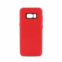 Coque en cuir MOOOV pour Samsung S8+ Rouge