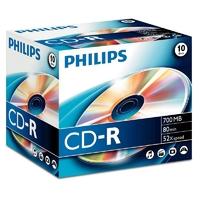 Pack de 10 CD-R PHILIPS 700 MB 80 Min 52x