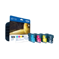 Cartouche d'encre BROTHER LC1100VALBP Multipack