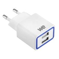Chargeur secteur WE CONNECT 1 USB 2.1A + 1 USB 1A