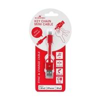 Câble Lightning USB BLUESTORK 9 cm Rouge