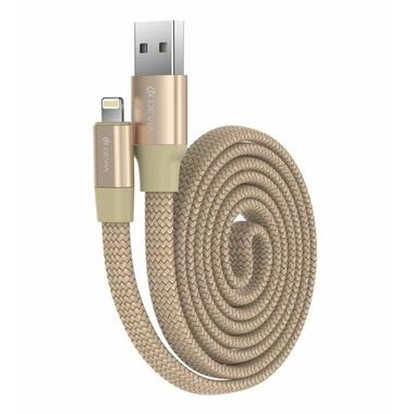 Accessoires téléphonie câble DEVIA Ring Y1 USB vers Lightning Dore 80 cm infinytech Réunion 1