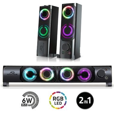 Matériels informatique enceintes 2.0 SOUNDPHONIC RGB 6W RMS infinytech Réunion 1