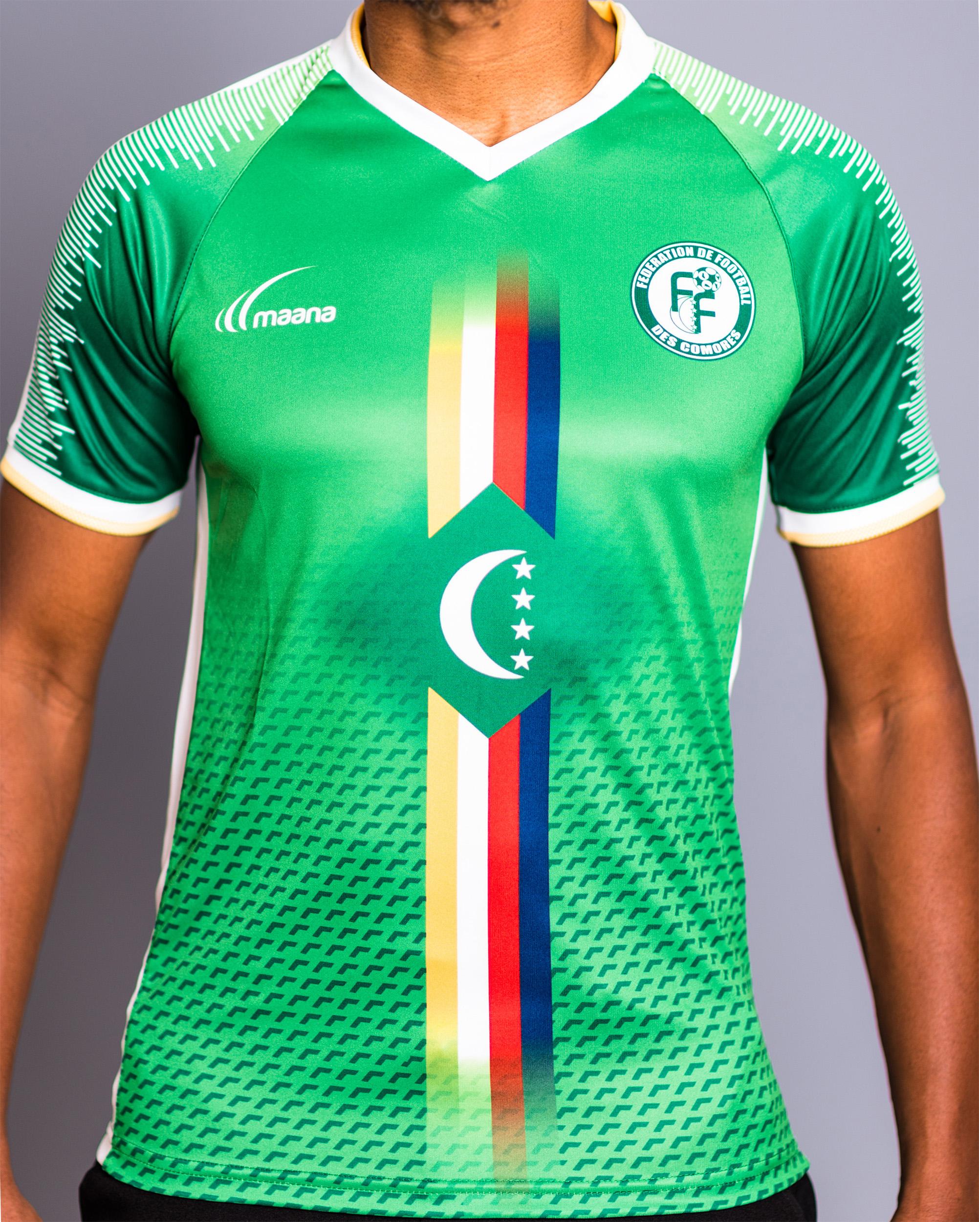 Maillot officiel des Comores domicile 201