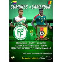 COMORES vs CAMEROUN 08/09/2018