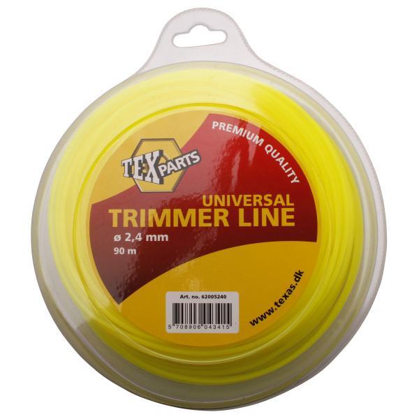 Fil Nylon Rond Jaune pour Débroussailleuse | TEXAS | Diam. 2,4 mm | Bobine de 90 Mètres | Réf. : 6200524