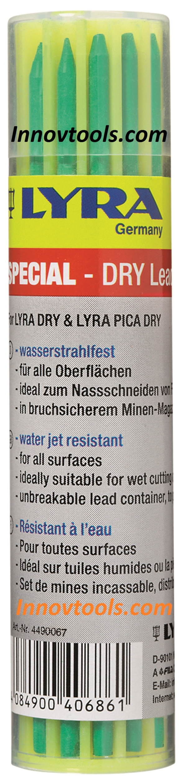 Recharge de 12 Mines LYRA DRY Vertes | Réf. : 4490067