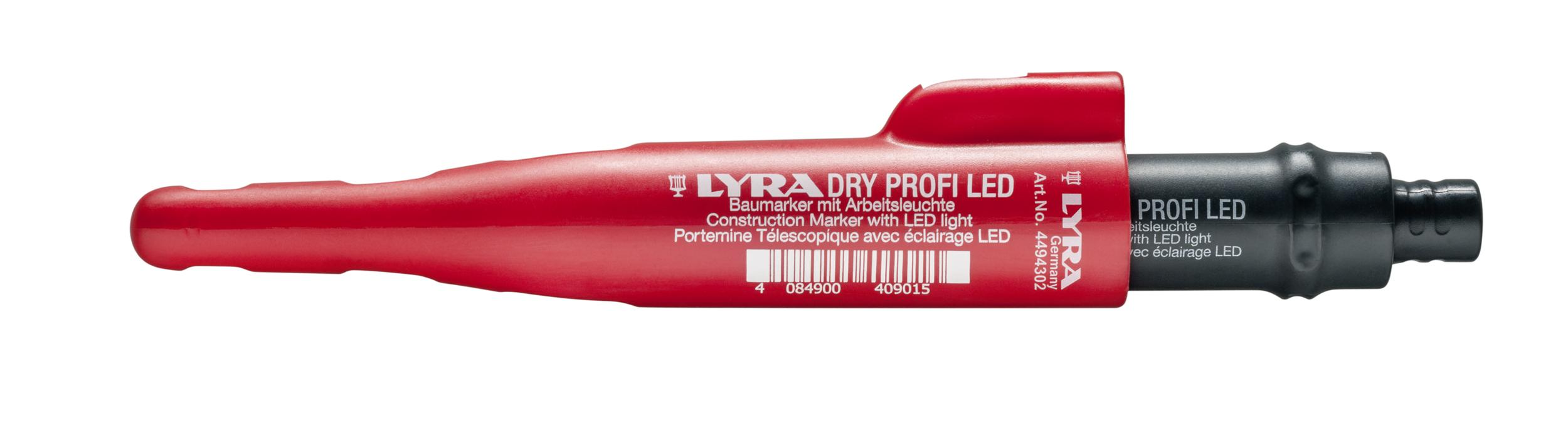 Portemine à pointe Télescopique LYRA DRY PROFI LED | Avec LED intégré | Réf. : 4494302