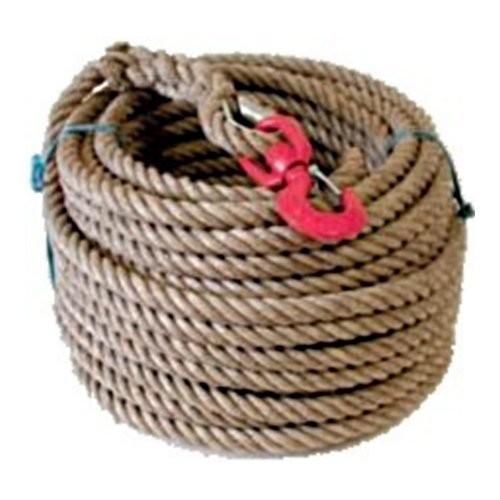 Corde pour Poulie avec crochet | Fabrication Française | Capacité 50 Kgs | Diamètre : 20 mm | Longueur : 50 Mètres