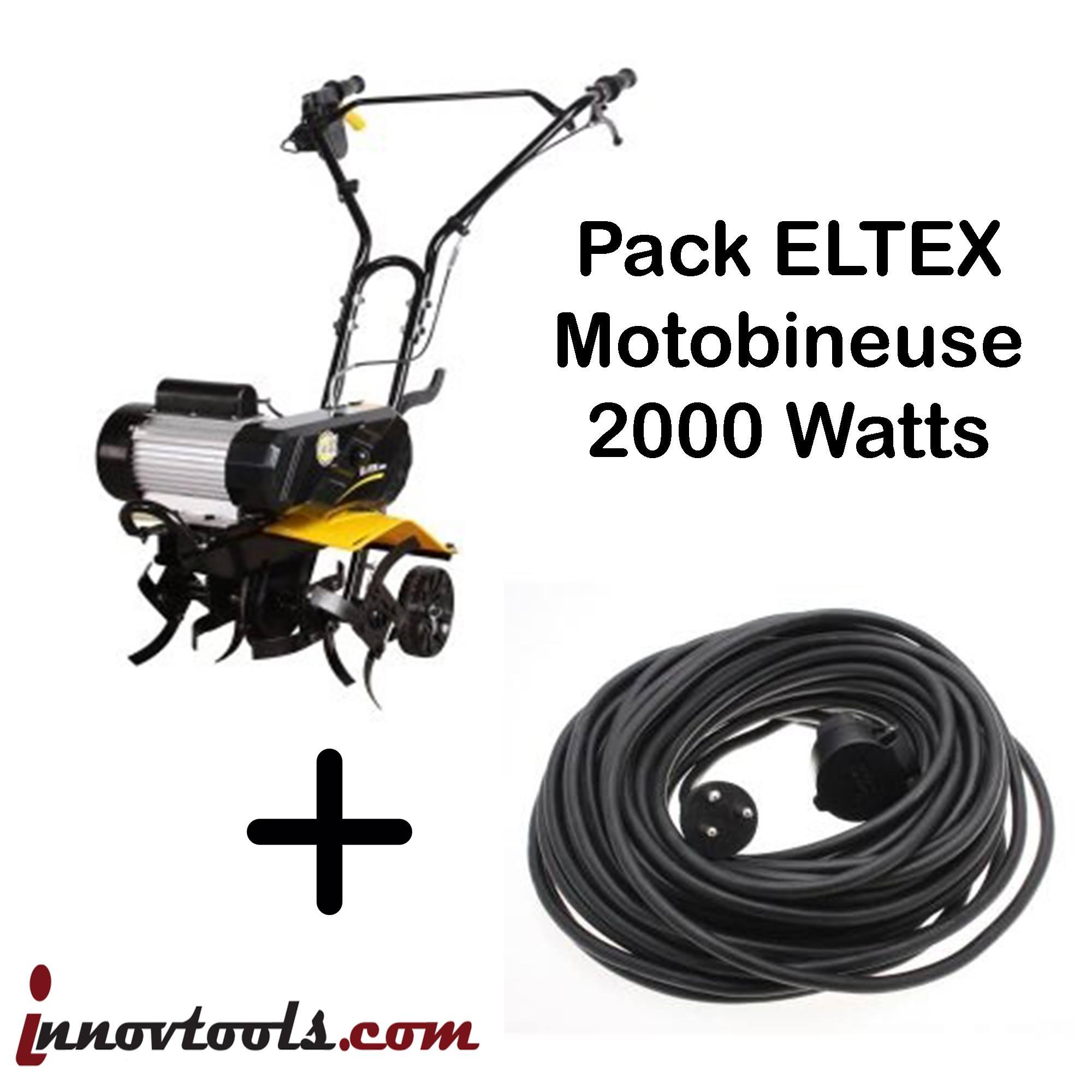 PACK Motobineuse ELTEX TEXAS 2000 + Rallonge 20 mètres