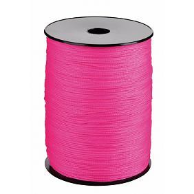 Drisse en Polypropylène en bobine | Coloris Rose Fluo | Différents diamètres : 1,5 - 2 mm et 2,5 mm | Longueurs : 100 et 200 Mètres