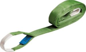 Élingue de Levage Textile Plate Verte avec 2 Boucles | CMU = 2 TONNES | Existe en : 1,5, 2, 2,5, 3, 4 mètres et 6 Mètres