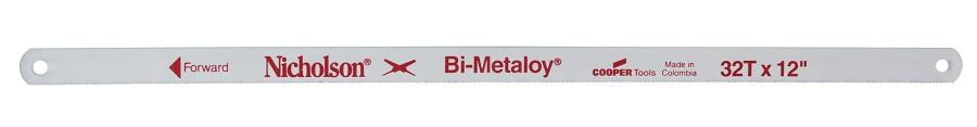 Lame de Scie à métaux à main Bi-Métal | Existe en 3 modèles : 8, 10 et 12 Dents | Longueur : 304 mm | NICHOLSON