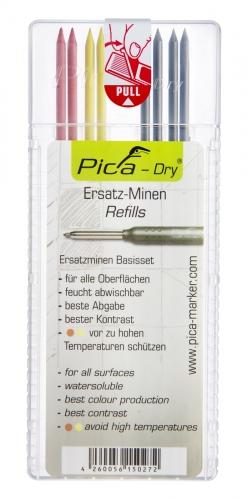 Recharge de Mines pour Crayon Pica Dry LongLife | Plusieurs Couleurs | Étuis de 8 ou 10 Mines | PICA MARKER