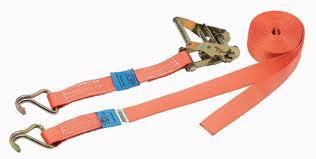 Sangle d\'arrimage à Cliquet | 2 Crochets | CMU = 2 Tonnes | Longueur : 6 Mètres
