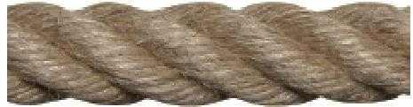 Cordage en chanvre Aspect non poli CS 4 Torons | Fibre naturelle | Fabrication Française | Au Mètre Linéaire ou Rouleau de 25 Mètres | Différents diamètres du 5 mm au 32 mm