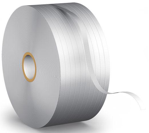Feuillard d\'emballage textile Blanc