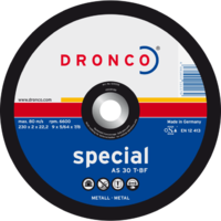 Disque à tronçonner Métaux AS 30 T SPECIAL | DRONCO | Forme Bombée