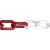 CHAÎNE PLASTIQUE rouge et blanche de 25 mètres