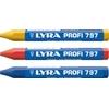 Craie Forestière Profi 797 Multi-Fonctions | A Base d'Huile | Forme Hexagonale | Pigmentation Intense | Nombreuses Couleurs | LYRA