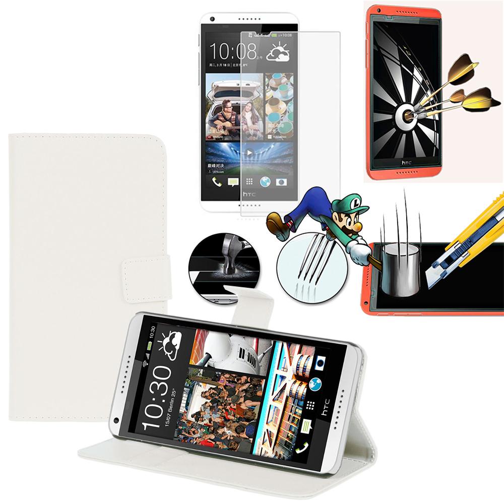 connaître traduction allemand HTC Desire 816/ 816G Dual Sim: Etui Coque  Housse Pochette Accessoires portefeuille support video cuir PU + 1 Film de
