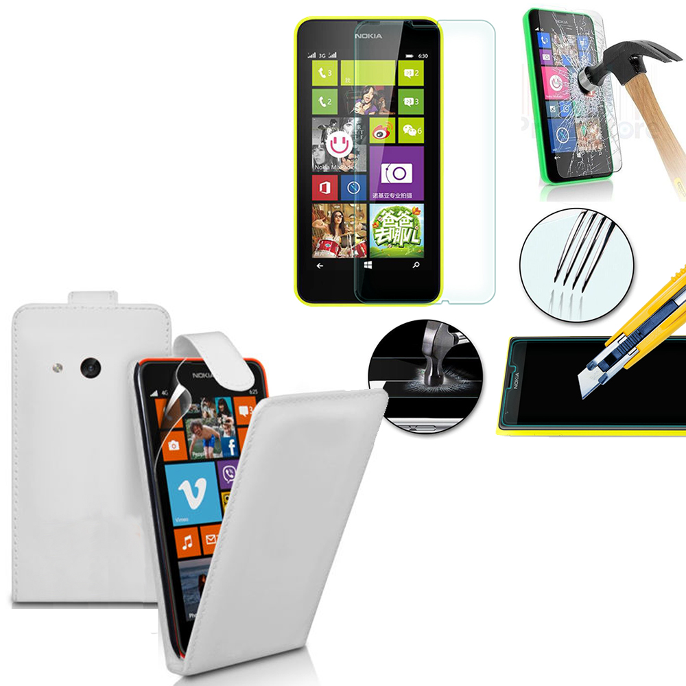 you tube wrecking ball Nokia Lumia 630/ 635/ 638: Etui Coque Housse  Pochette Accessoires simili cuir + 2 Films de protection d'écran Verre  Trempé -