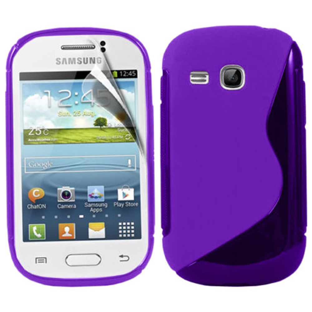 commentary to article 25 Samsung Galaxy Ace 2 i8160: Accessoire Housse Etui Pochette Coque Silicone Gel motif S Line + Stylet VIOLET