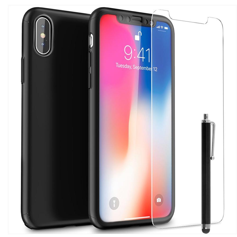 coque iphone x avec verre trempé