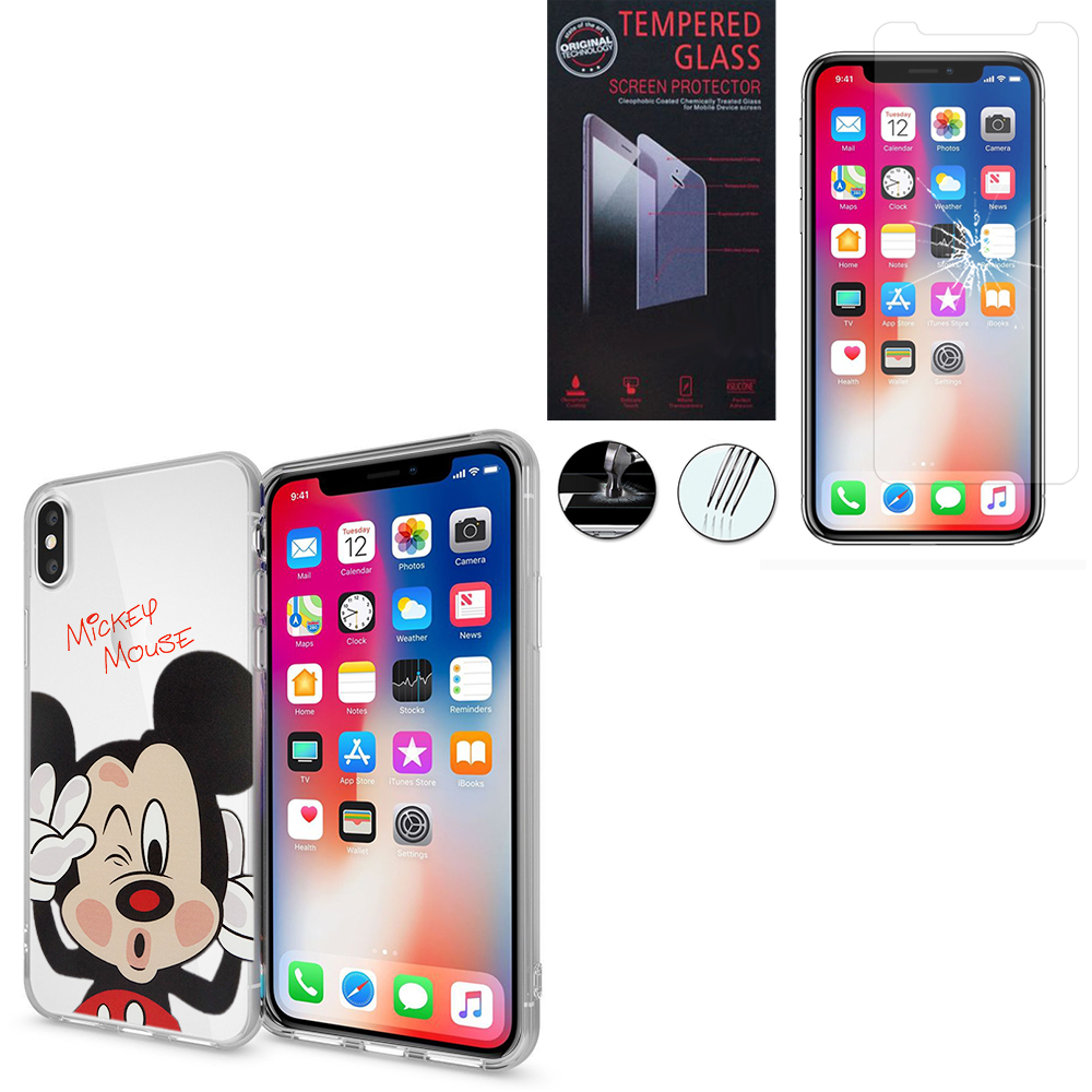 coque iphone x silicone mickey