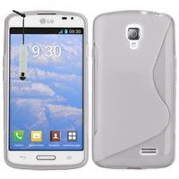 LG F70 D315/ LTE: Accessoire Housse Etui Pochette Coque S silicone gel + mini Stylet - TRANSPARENT