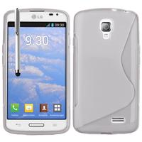 LG F70 D315/ LTE: Accessoire Housse Etui Pochette Coque S silicone gel + Stylet - TRANSPARENT