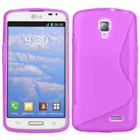 LG F70 D315/ LTE: Accessoire Housse Etui Pochette Coque S silicone gel - VIOLET