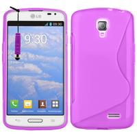 LG F70 D315/ LTE: Accessoire Housse Etui Pochette Coque S silicone gel + mini Stylet - VIOLET