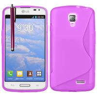 LG F70 D315/ LTE: Accessoire Housse Etui Pochette Coque S silicone gel + Stylet - VIOLET