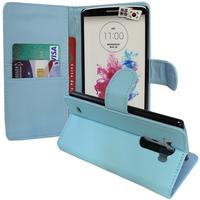 LG G3 D850/ D851/ D855/ VS985/ LS990/ D852: Accessoire Etui portefeuille Livre Housse Coque Pochette support vidéo cuir PU - BLEU