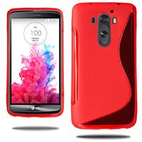 LG G3 D850/ D851/ D855/ VS985/ LS990/ D852: Accessoire Housse Etui Pochette Coque S silicone gel - ROUGE