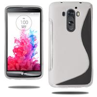 LG G3 D850/ D851/ D855/ VS985/ LS990/ D852: Accessoire Housse Etui Pochette Coque S silicone gel - TRANSPARENT