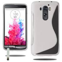 LG G3 D850/ D851/ D855/ VS985/ LS990/ D852: Accessoire Housse Etui Pochette Coque S silicone gel + mini Stylet - TRANSPARENT