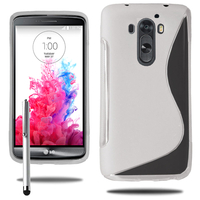 LG G3 D850/ D851/ D855/ VS985/ LS990/ D852: Accessoire Housse Etui Pochette Coque S silicone gel + Stylet - TRANSPARENT