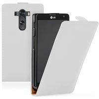 LG G3 D850/ D851/ D855/ VS985/ LS990/ D852: Accessoire Housse coque etui cuir fine slim - BLANC