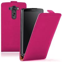 LG G3 D850/ D851/ D855/ VS985/ LS990/ D852: Accessoire Housse coque etui cuir fine slim - ROSE