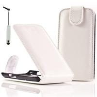 LG F70 D315/ LTE: Accessoire Etui Housse Coque Pochette simili cuir + mini Stylet - BLANC