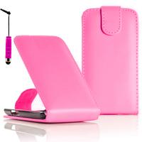 LG F70 D315/ LTE: Accessoire Etui Housse Coque Pochette simili cuir + mini Stylet - ROSE