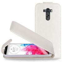 LG G3 D850/ D851/ D855/ VS985/ LS990/ D852: Accessoire Etui Housse Coque Pochette simili cuir - BLANC