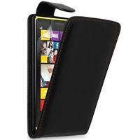 Nokia Lumia 1320: Accessoire Etui Housse Coque Pochette simili cuir - NOIR