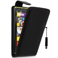 Nokia Lumia 1320: Accessoire Etui Housse Coque Pochette simili cuir + mini Stylet - NOIR